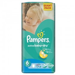 24 Couches Pampers Active Baby Dry taille 6