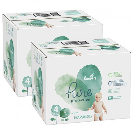 475 Couches Pampers Pure Protection taille 4 sur Sos Couches