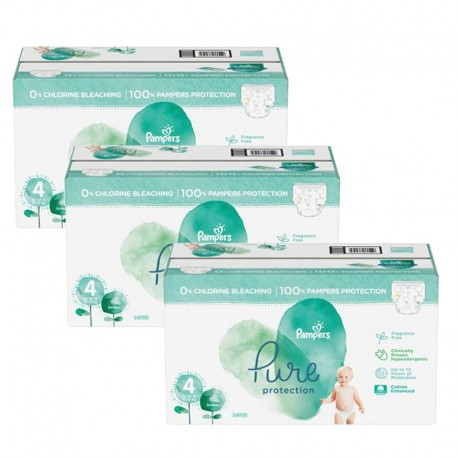 570 Couches Pampers Pure Protection taille 4 sur Sos Couches