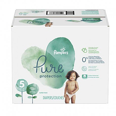 51 Couches Pampers Pure Protection taille 5 sur Sos Couches