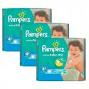 200 Couches Pampers Active Baby Dry taille 4+ sur Sos Couches