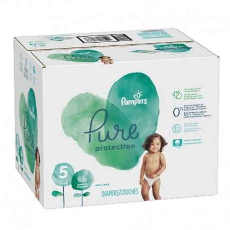 119 Couches Pampers Pure Protection taille 5 sur Sos Couches