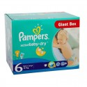 72 Couches Pampers Active Baby Dry taille 6 sur Sos Couches