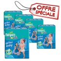 96 Couches Pampers Active Baby Dry taille 6 sur Sos Couches