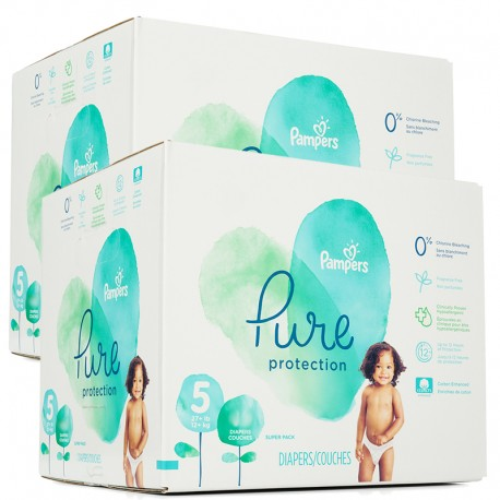 374 Couches Pampers Pure Protection taille 5 sur Sos Couches