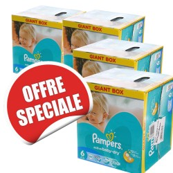 240 Couches Pampers Active Baby Dry taille 6