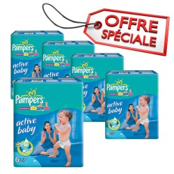 312 Couches Pampers Active Baby Dry taille 6