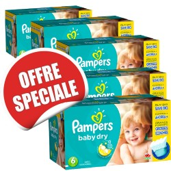 304 Couches Pampers Baby Dry taille 6