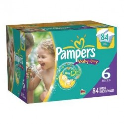 684 Couches Pampers Baby Dry taille 6