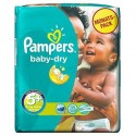 68 Couches Pampers Baby Dry taille 5+ sur Sos Couches