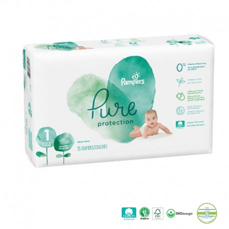 Pack 50 Couches Pampers Pure Protection sur Sos Couches