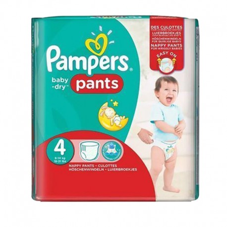 Pack 16 Couches Pampers Baby Dry Pants sur Sos Couches