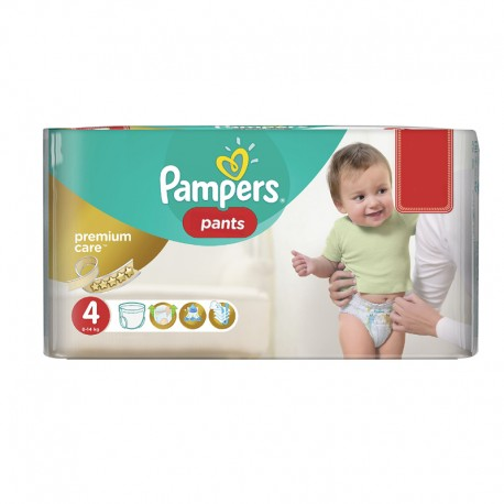 66 Couches Pampers Premium Care Pants taille 4 sur Sos Couches