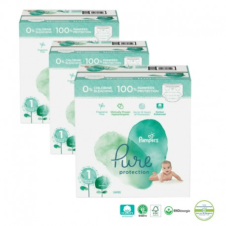 200 Couches Pampers Pure Protection taille 1 sur Sos Couches
