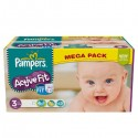 272 Couches Pampers Active Fit taille 3 sur Sos Couches