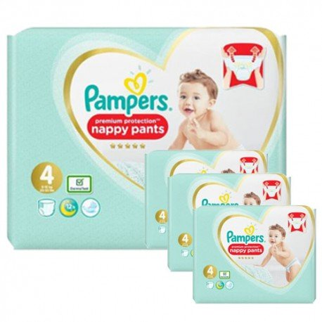 608 Couches Pampers Premium Protection Pants taille 4 sur Sos Couches