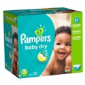 266 Couches Pampers Baby Dry taille 3 sur Sos Couches
