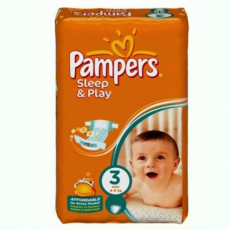 78 Couches Pampers Sleep & Play taille 3 sur Sos Couches