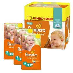 390 Couches Pampers Sleep & Play taille 4 taille 3