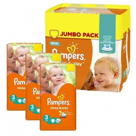390 Couches Pampers Sleep & Play taille 3 sur Sos Couches