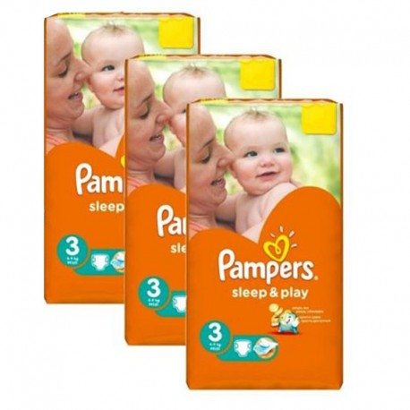 546 Couches Pampers Sleep & Play taille 3 sur Sos Couches