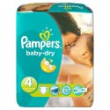 78 Couches Pampers Baby Dry taille 4 sur Sos Couches