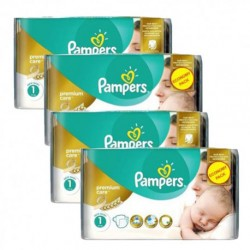 198 Couches Pampers New Baby Premium Care taille 1