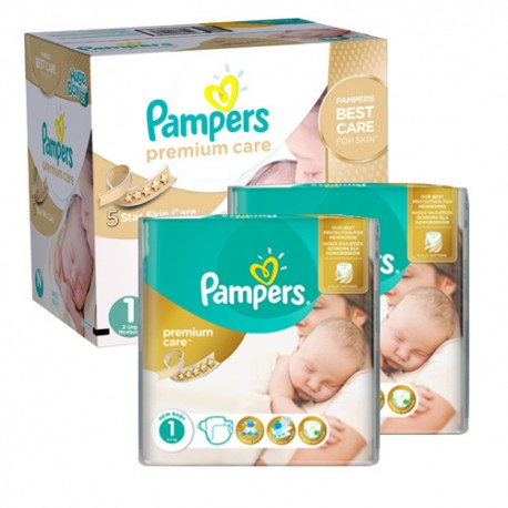 220 Couches Pampers New Baby Premium Care taille 1 sur Sos Couches