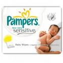 200 Lingettes Bébés Pampers New Baby Sensitive - 4 Packs de 50 sur Sos Couches